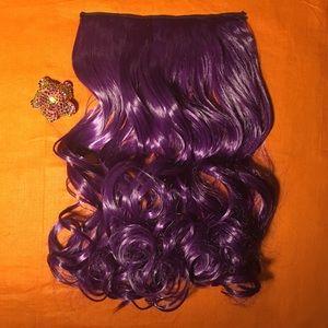"20"" Amethyst 1 piece/5 clip hair extension"